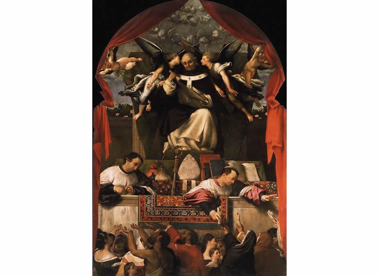 """""""Saint Antonin distribuant aux pauvres"""" Quentin Metsys"""