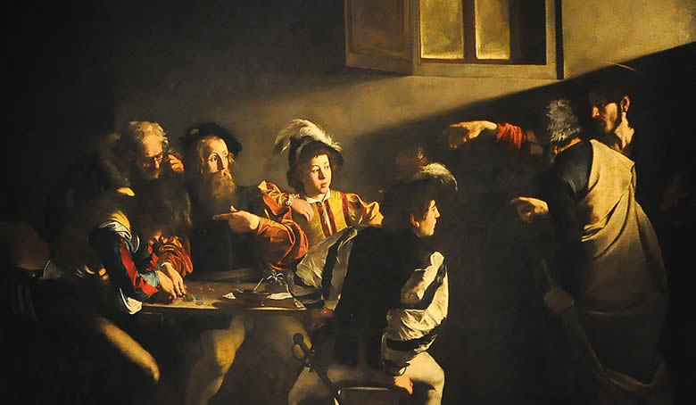 """La Vocation de saint Matthieu"" Caravage"