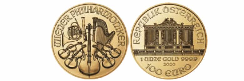 Autriche Pièces d'investissement 2020, série Philharmonique de Vienne