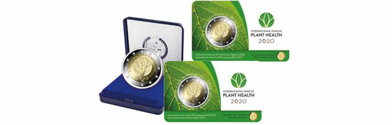 """2 euros commémorative nationale 2020, """"Année internationale de la santé des végétaux"""""""