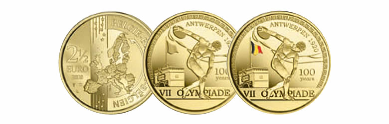 """2 ½ euros 2020, """"100e anniversaire des Jeux Olympiques d'Anvers 1920"""""""