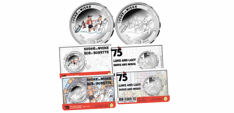 "5 euros 2020, ""75e anniversaire de Bob et Bobette (héros de Willy Vandersteen)"""