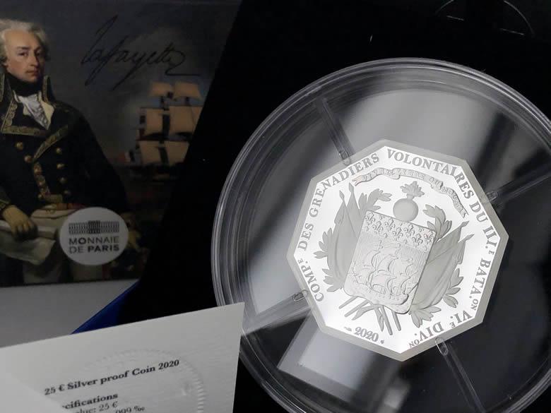 La Fayette pièces de la Monnaie de Paris 2020
