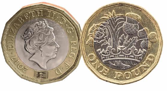 Depuis quand la pièce de 1 Pound britannique n'est plus ronde ?