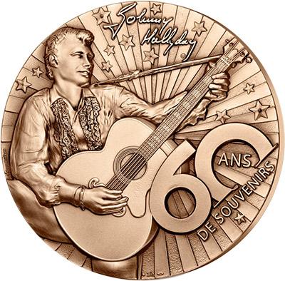 Médaille presse papier Johnny